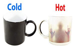 Fear The Walking Dead - Tazza Zombie - Tazza sensibile al calore sensibile al calore in ceramica Tazza per caffè caldo Caldo freddo Sensibile al calore Caffè che cambia colore