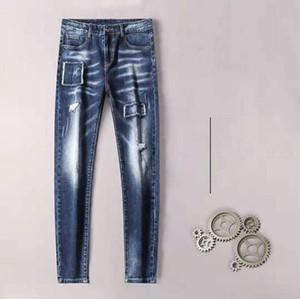 Brand Jeans Style 2020 nuovi uomini di PD11075 Classic Autunno Inverno Business Casual Dark Blue Denim elastico Etero Pantaloni maschio di alta qualità P