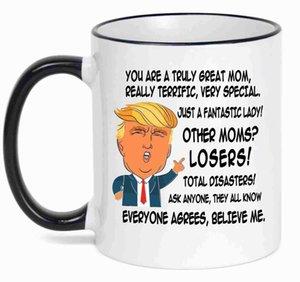 Trump taza de café Elección U.S.A. hacer de Estados Unidos Gran triunfo de café de cerámica taza de leche de Donald Trump empuñadura tazas de cerámica cny1985