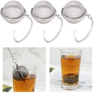 Tè dell'acciaio inossidabile Pot Infuser della sfera di bloccaggio Spice tè della sfera colino a maglia Infuser colino da tè Filtro infusor