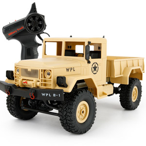 New Arrival Wpl Wplb -1 Rc Military Truck 1 :16 2 .4g 4wd Crawler Rc Car With Light Rtr Toy Mini Off -Road Car Gift For Boy Children