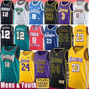 Ja 12 Morant LeBron 23 6 James Basketball Jersey 8 Anthony 3 Davis Kyle 0 Kuzma Bryant Trikots NCAA Earvin neue 32 Johnson