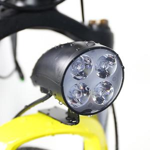 Велосипед 4W фара светодиодных 3 4 велосипеда Горн Водонепроницаемый фонарик с Горном для Электрического велосипеда двигатель Front Light