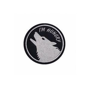 Я голоден MC Rider Wolf вышивка утюг на патч для куртки Одежды Front Размер Бесплатной доставки