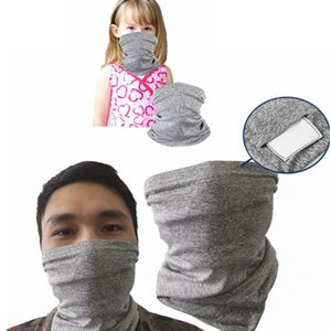 PM2.5 Filter Mund Multi Hals Gamasche Gesicht Abdeckung Bandanas Schal Kopfbedeckung Kinder erwachsene Größe Gesichtsmaske einschließlich 2ST Filter LJJK2088 maskieren
