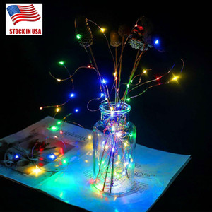 2M 20LEDs CR2032 Battery Operated Micro Mini LED String Light Copper Silver Wire Starry Light String For Decoration