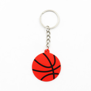 Baseball Key Chains Soccer Volleyball Beach Football Rugby Key Ring Sport Ball Pendant Portable Baseball Keychain Party Favor GGA2697