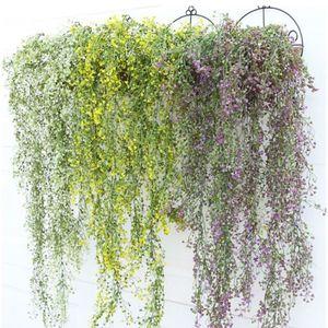 Artificial Hanging Ivy Garland Plants Vine Fake Foliage Flower wisteria Home Garden Artificial Flowers