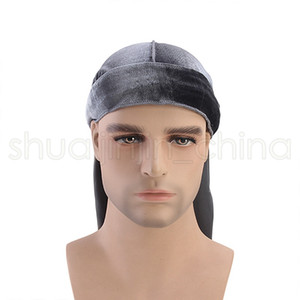 Fashion Unisex Velvet Bandana Solid Color Pirate Wigs Caps Creative Outdoor Cycling Turban Headwear Hair Accessories TTA1589