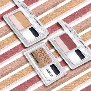 Hochzeits-Make-up zweifarbiger fauler Lidschatten schimmern mit Bürste dauerhaft natürliches Make-up-Siegel Farbverlauf Perle Lidschatten aufhellen Make-up