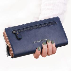 Titular Luxary Mulheres Carteiras Cartão da forma da senhora bolsas Bolsas dinheiro Coin Purse Mulher Clutch longo Zipper Wallet Burse Bags bolso
