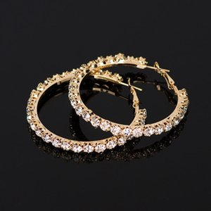 Fashionable and exquisite adorn article popular geometry single row sets auger water to auger ear ring female earring wholesale E029