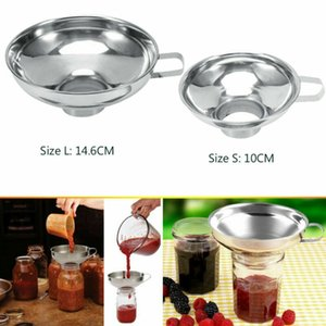 Kitchen Jam Cup Werkzeug Hopper Filter Wide Mouth Edelstahl Canning Funnel