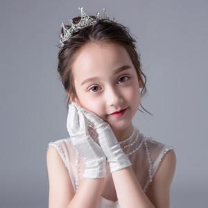 f6qXA flores de la boda de los niños Tong Li Fu Tong Li Fu guantes blancos del vestido del vestido de baile funcionamiento del vestido de la princesa de las niñas de los niños de baile b