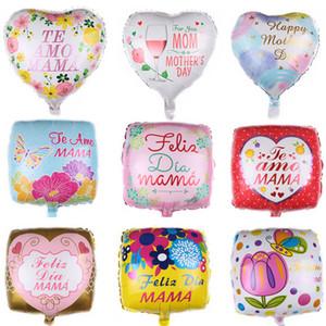 18 дюймов я люблю тебя мама форма сердца воздушные шары Счастливый День матери воздушный шар украшения День Рождения Мама подарки алюминиевое покрытие баллоны M1414