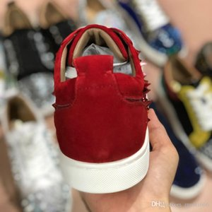 2019 The latest designer red sole brand leisure shoes, men's leisure shoes, multi-seascape leisure shoes, low-top wedding party , style: 12