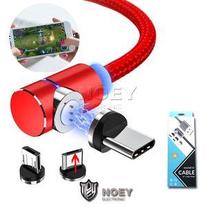 Fast Charger Tipo C sincronizzazione di dati del cavo 2M nylon intrecciato magnetica rapida caricabatterie micro V8 cavi USB di ricarica Cords con confezione di vendita noey