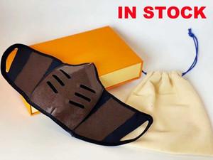 La mitad de diseño de moda las tapas de boca de impresión con monograma mantenerse a salvo en el estilo Máscara enfrentan hombres y mujeres con la caja