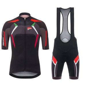 2020 프로 팀 두카티 사이클링 저지 남성 / 여성 여름 통기성 자전거 의류 MTB 자전거 저지 턱받이 반바지 키트 로파 Ciclismo 설정