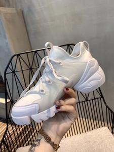 Модельер обувь женская резиновая подошва кожаные кроссовки негабаритные лубочные модельная обувь размер 35-40