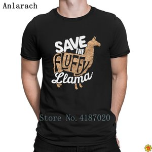 Save The Fluffy Llama Animal Advocate T shirt Top Quality O-Neck Personality T Shirt For Men Gift Slim Fit Anlarach Summer Style