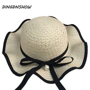 [DINGDNSHOW] 2019 Mode Chapeau de soleil Kid large Brim plage Cap Fleur d'été Chapeau pour enfants Fille Chapeau de paille