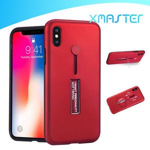 Hibrid Halka Tutucu Çubuğu Zırh Telefon Kılıfı iPhone için 11 Pro Max XR Samsung S20 Artı A81 A70 A20S LG G7 K8 xmaster