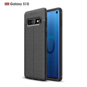 Slim Litchi Grain Soft TPU Case For Samsung Galaxy S10 S10 Plus S10e J4 Core A6S A9S A9 Star Pro A6 A6+