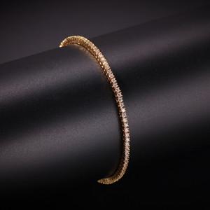 2 мм Кубический Циркон Теннис Прекрасное Ожерелье Золотая Посеребренная Медь Micro Paved CZ Кубинская Цепь 8 дюймов 7 дюймов