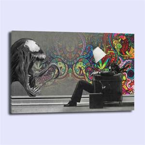ABSTRACT MARVEL VENOM, Impression sur toile HD, peinture neuve à la maison, décoration d'art / (sans cadre / avec cadre)