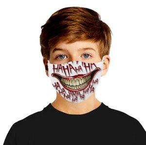 Filtro digital máscara máscaras del fiesta de Halloween Cosplay Deportes de la cara de la bandera cráneo antiestáticos reutilizables máscara de polvo PM2.5 anti-niebla máscaras protectoras GGA3356-12