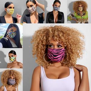 maschera viso di lusso le donne d'avanguardia di stampa del progettista della bocca degli uomini esterni ciclismo traspirante bocca muffole adulti riutilizzabili maschere lavabili