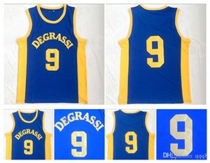Degrassi Community 9 Jimmy Brooks Trikot Herren High School Team Farbe Blau Genähte Brooks Moive Basketball Trikots Uniform