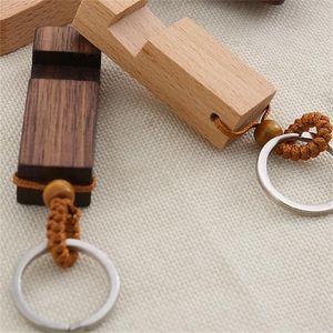 Вуд брелок держатель телефона сплав Key Пряжка Мобильного телефона деревянного кронштейн сиденье Клавиша кольцо партия подарок день рождения 2 8sm H1