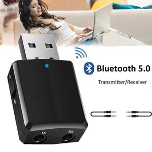 USB Bluetooth 5.0 Emetteur Récepteur 3 en 1 Adaptateur EDR Dongle 3.5mm AUX pour PC TV Casques Home Stereo Car Audio