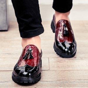Perimedes classics Gentleman single shoes uomo Confortevole brillante frange in pelle di grandi dimensioni colori misti in pelle