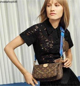 T0XV venta Conjunto de 3 piezas de los diseñadores Bolsas Crossbody de las mujeres del bolso genuino del cuero de lujo bolsos monederos de los diseñadores Señora bolsas de mano monedero Tres