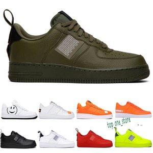 OFF White x Nike Air Force 1 OW Yeni Geliş Womens 1 Kaykay Ayakkabı kapalı bir Beyaz Siyah Moda Günlük Spor Spor ayakkabılar Eğitmenler CHAUSSURES 36-46 S41 Running