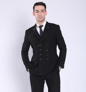 Professional Business Men Marinha Moda Sexy Novo Design Breasted dobro sere Two Pieces Noivo Homens Wedding Suits (Blazer + Pant)