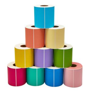 Várias cores 60 * 50mm 1000 pcs pacote de cor em branco endereço de entrega papel revestido etiqueta autocolante item código de barras pacote adesivo etiqueta