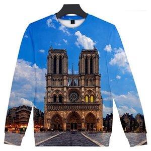 Hoodies 3D imprimé O-cou coloré Sweat-shirts femme Mode Vêtements RIP Hot Notre Dame de Paris Mens