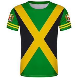 JAMAICA camiseta DIY por encargo nombre número libre de atascos camiseta bandera de la nación jm país de Jamaica impresión de la foto de la universidad logotipo de la ropa 0