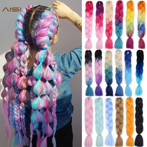 Cheap Jumbo Braids AISI Jumb Braiding Synthetic 42Color Available 24Inch Crochet Blonde Hair For Women Extensions Jumbo Braids Hairstyles