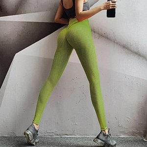 Mulheres Pure Color Exercício para levantar nádegas alta cintura apertada Yoga Pants Calças Activewear Yoga Pant oco Esporte Trainning Wear