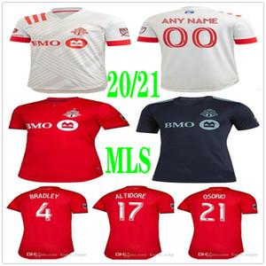 Camisa 20 21 Toronto FC de fútbol de los jerseys 10 POZUELO 17 ALTIDORE BRADLEY Giovinco OSORIO Morrow personalizado 2020 2021 En casa Fuera adulto Fútbol Niños