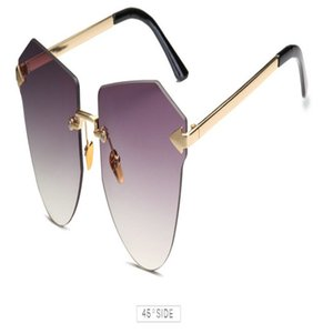 Arrow Frameless gold Sunglasses Peekaboo metal round sunglasses women retro vintage summer frameless sun glasses big frame male 2019 ancJD U