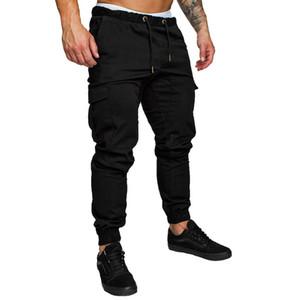 Pantalones Pantalón largo de Carga LASPERAL hombres sólidos de gran tamaño pantalones ocasionales del verano del Mens Nuevo pantalón masculino Joggers