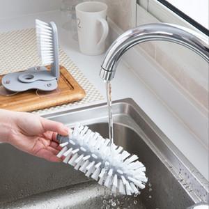 Creativo di aspirazione a parete pigro pennello Coppa di vetro spazzola di pulizia della cucina rotante Water Cup Brush Tea Cups pulire i pennelli DBC VT0907