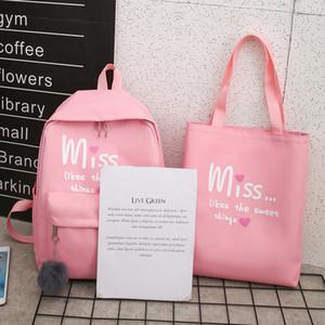 JODIMITTY 4Pcs / set Donne Nylon Schoolbag ziani per la scuola per gli adolescenti Ragazze Student Book Bag Ragazzi Mochilas Sac à Dos