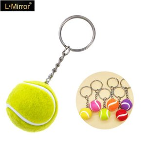 L.Mirror 1Pcs Sports Keychain Tennis Key Rings Fans Creative Key Chain for Car Purse Hanging Accessories New